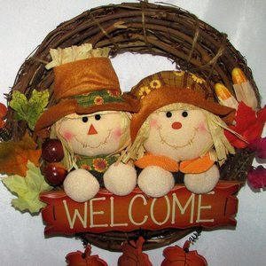 Decorative Fall Hanging Welcome Wreath